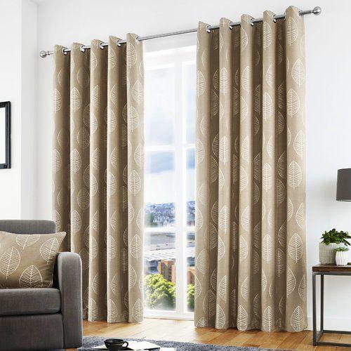 Brookhurst Eyelet Room Darkening Curtains Charlton Home Size Width 168cm X Drop 229cm C Grey Eyelet Curtains Room Darkening Curtains Lined Curtains
