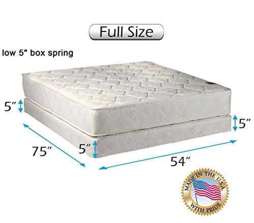 Dream Sleep Legacy Flippable Double Sided Mattress And Low Height Box Spring Set With Bed Frame Included Spine Support Orthop Box Spring Spring Set Mattress