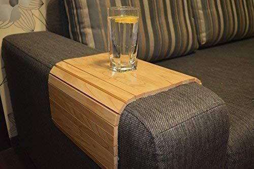 Sofa Arm Organizer Tray In 2020 Sofa Arm Table Wooden Sofa Couch Arm Table