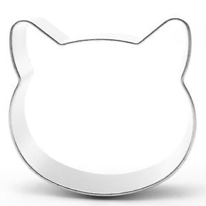 Cat Head Shaped Cookie Cutter Bake Cook Baking Home Bakery Kitty ...