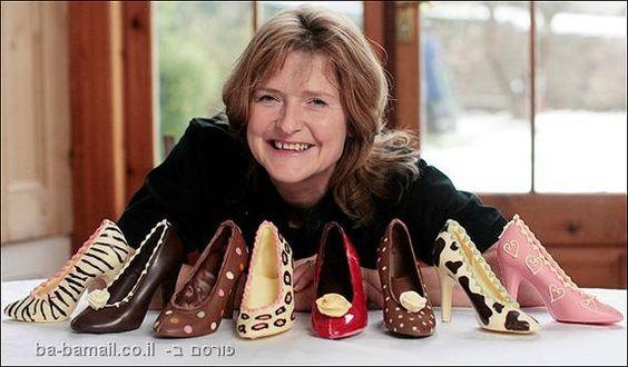 אוכל, עיצוב, שוקולד, נשים, נעליים: