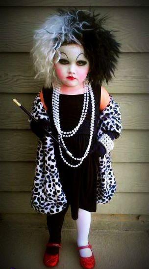 cruella devil costume party diy halloween costumes kids costumes so funny i love it etta. Black Bedroom Furniture Sets. Home Design Ideas