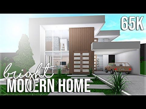 Bloxburg Bright Modern Home 65k Youtube In 2020 Modern Family House House Plans With Pictures Two Story House Design