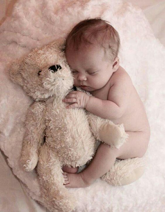 fotografías de bebés con peluches