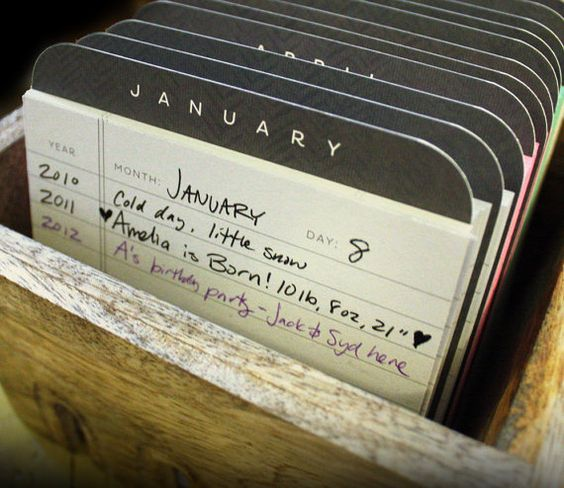 Escritorio calendario perpetuo por 1canoe2 en Etsy