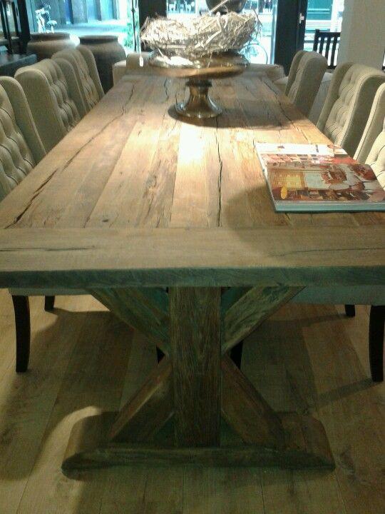 Eetkamer tafel de pagter interieur middelburg tables chairs pinterest tables and interieur - Deco eetkamer oud ...