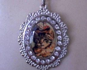 § Colar Lady Nina § Vintage #cat #gato #gata #medalha #colardegato