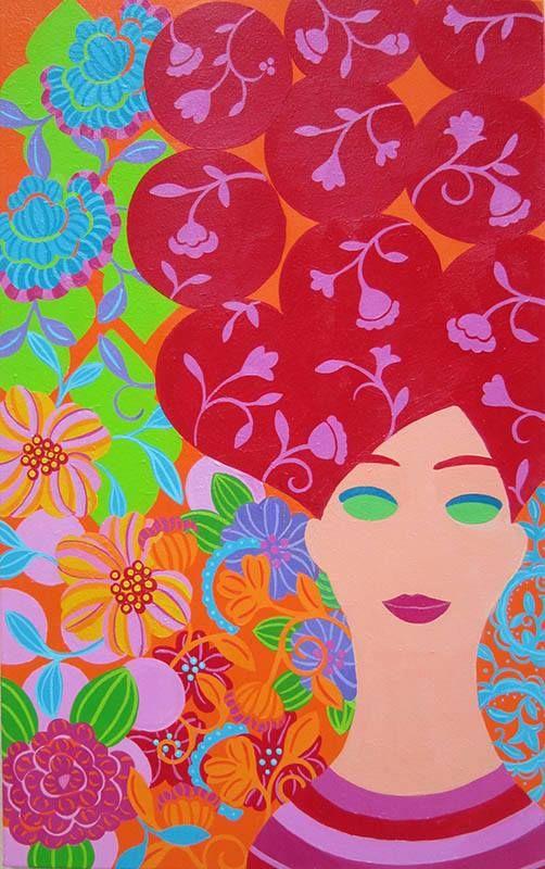 quadro acrilico sobre tela da artista plástica carioca Bebel Franco