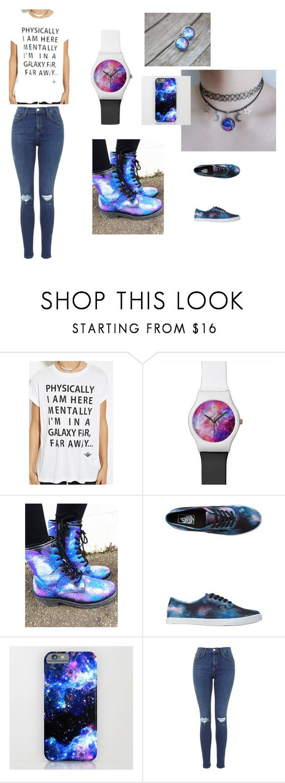 """""""In My Own Galaxy..."""" by kaylahca ❤ liked on Polyvore featuring Forever 21 and Vans"""