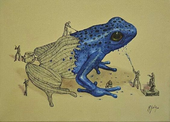 Painting a Frog