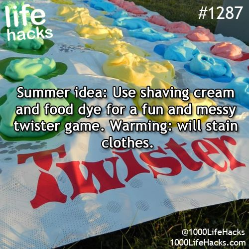 Messy Twister (Make sure you take pictures for future blackmail)