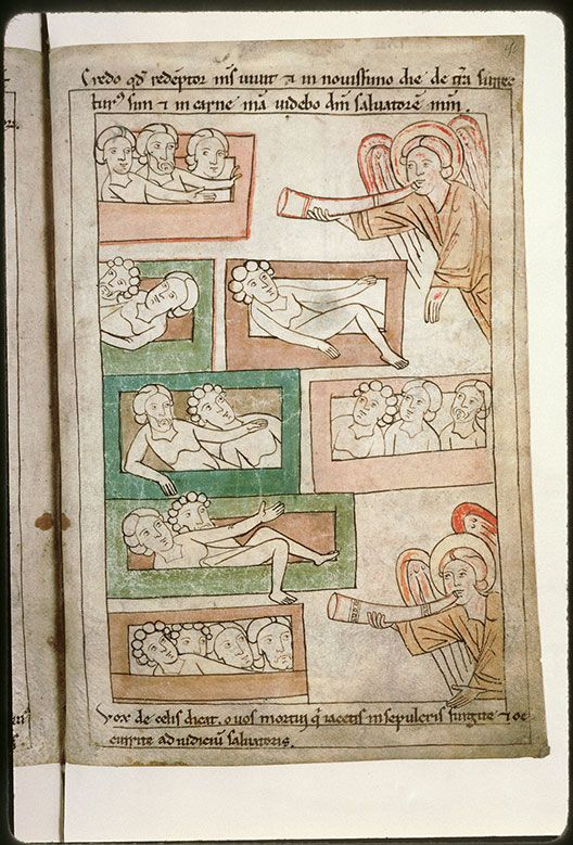Amiens - BM - ms. 0108, f. 252v-253 Resurrection of the Dead