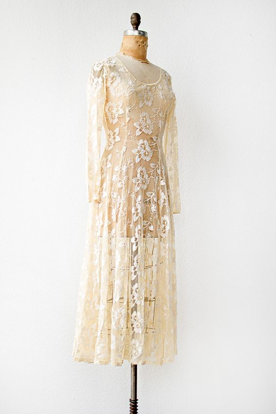 Boho wedding dresses for sale 1970s sheer embroidered for 1970s wedding dresses for sale