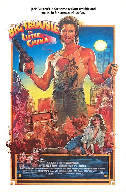 'Big Trouble in Little China' Kurt Russell and Kim Catrell in the cult classic Big Trouble in Little China.