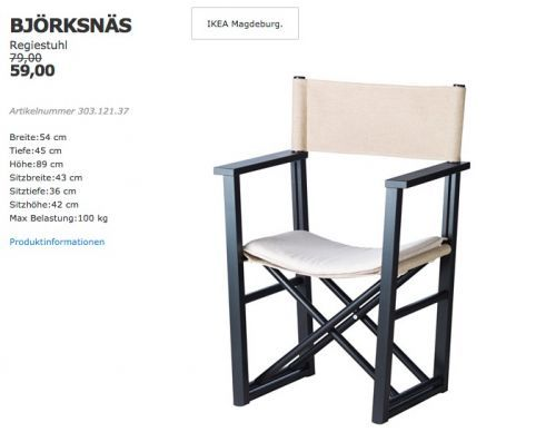 Bjorksnas Regiestuhl Regiestuhl Stuhle Und Kuche Und Haushalt