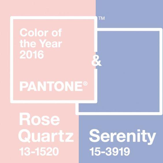 En 2016, place aux couleurs poudrées sous le signe de la sérénité. Le célèbre nuancier Pantone® n'annonce pas une couleur comme à son habitude, mais deux couleurs! Rose Quartz, un rose poudré plein de douceur, et Serenity, un bleu lavande très élégant. Il semble que les couleurs tendres répondent au besoin d'assurance et de sécurité. Celles-ci deviennent omniprésentes dans la vie des consommateurs pour les aider à surmonter le stress de la vie moderne.