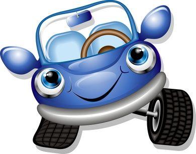 Cartoon Baby Blue Cars Car Maintenance Tips Pinterest