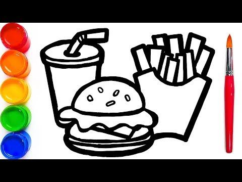 How To Draw Happy Meal Coloring Pages Learn Colors For Kids