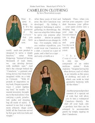 CAMELEON CLOTHES: Excerpt from Mother Earth News article  (I really own this pattern.)