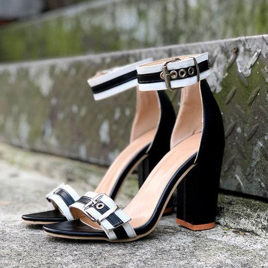 Details about  /Women/'s Open Toe Ankle Boots Block High Heels Faux Suede Plus Size Sandals Shoes