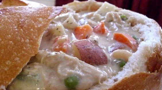 Creamy Navy Bean Soup with Chicken & Veggies