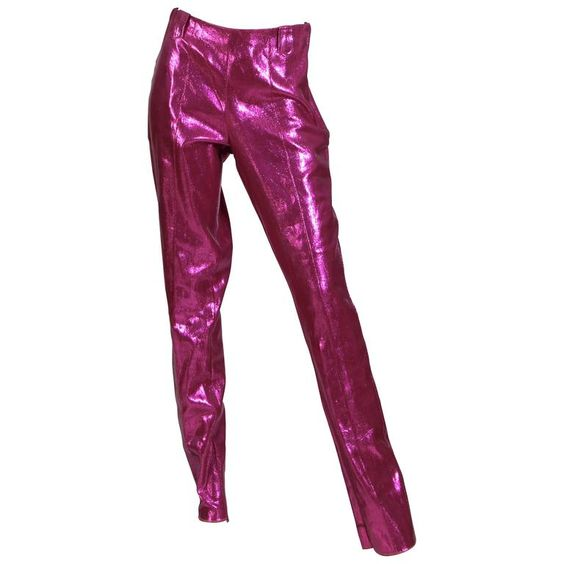 Rare 1960s Lurex Stretch Stagewear Western Trousers 1