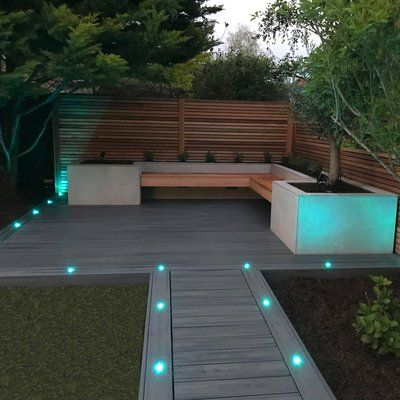 Wave Led 1 Light Led Deck Light Set Of 10 Bulb Color Warm White Rgb Led Deck Lighting Deck Lighting Landscape Lighting