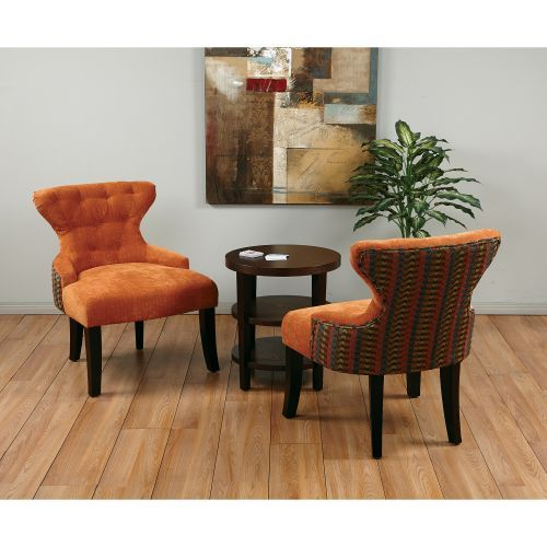 Curves Ii Orange Two Tone Accent Chair Vision Board