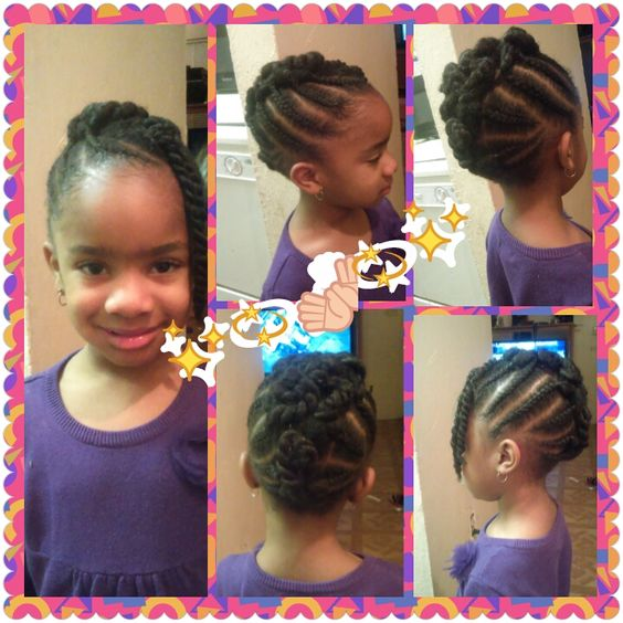 Cute Braided Mohawk Shared By Shaneria Mosley - http://community.blackhairinformation.com/hairstyle-gallery/kids-hairstyles/cute-braided-mohawk-shared-shaneria-mosley/ #kidshairstyles