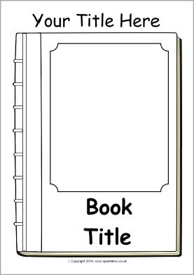 Editable book cover templates black and white sb10422 for Blank book template for kids