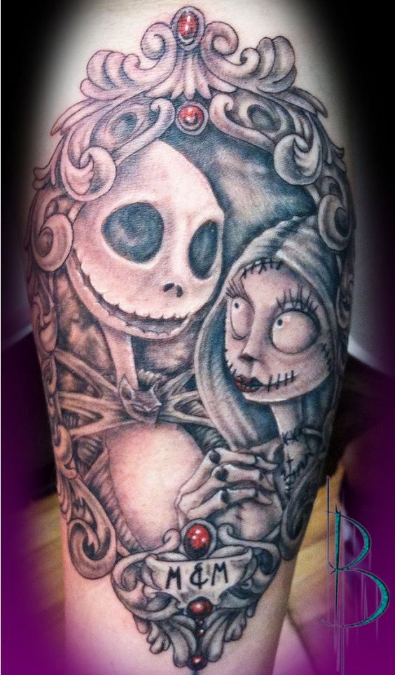 top 10 tim burton inspired tattoos jack o 39 connell tat and over the. Black Bedroom Furniture Sets. Home Design Ideas