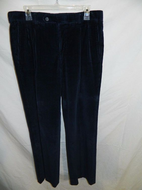 SAKS FIFTH AVENUE Blue Relaxed Corduroy Pants Size 34  INV#0306 #SaksFifthAvenue #Corduroys