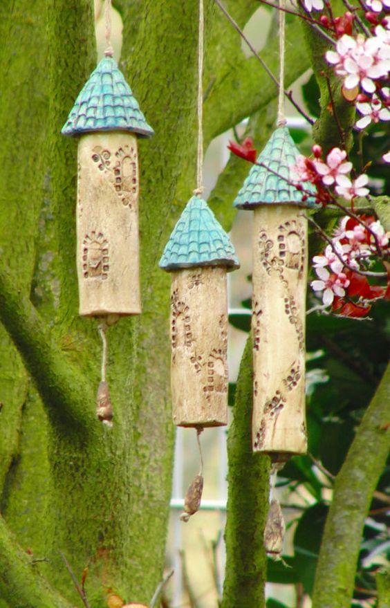 Keramik Windspiel Klangstäbe von NANDOMO auf Etsy: