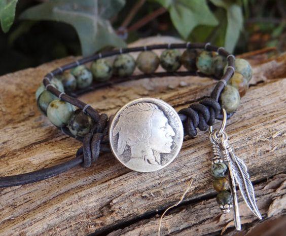Turquoise Bracelet,Wrap Bracelet,Native American,Beaded Bracelet,Mens Bracelet,Leather Bracelets,Black Bracelet,Southwestern Jewelry.