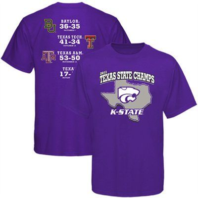 K-State Football 2011 Texas State Champs T-Shirt, $19.95
