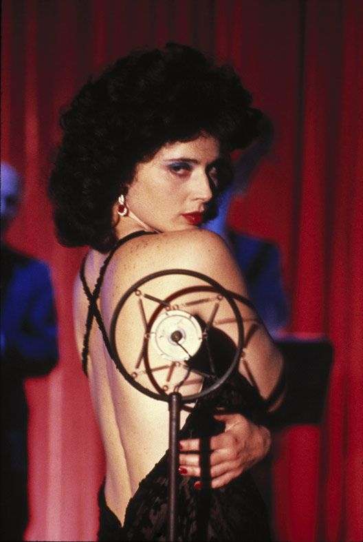 Isabella Rosalini in Blue Velvet