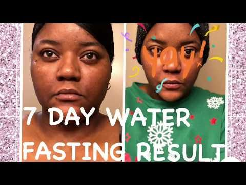 water fast weight loss results youtube