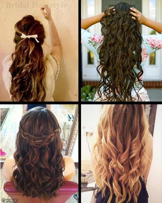 Outstanding Hairstyle For Long Hair Long Curly And The Ribbon On Pinterest Hairstyles For Men Maxibearus