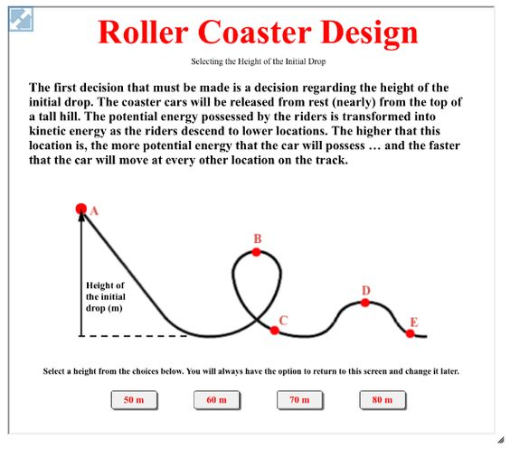 With the Roller Coaster Design Interactive, learners investigate ...