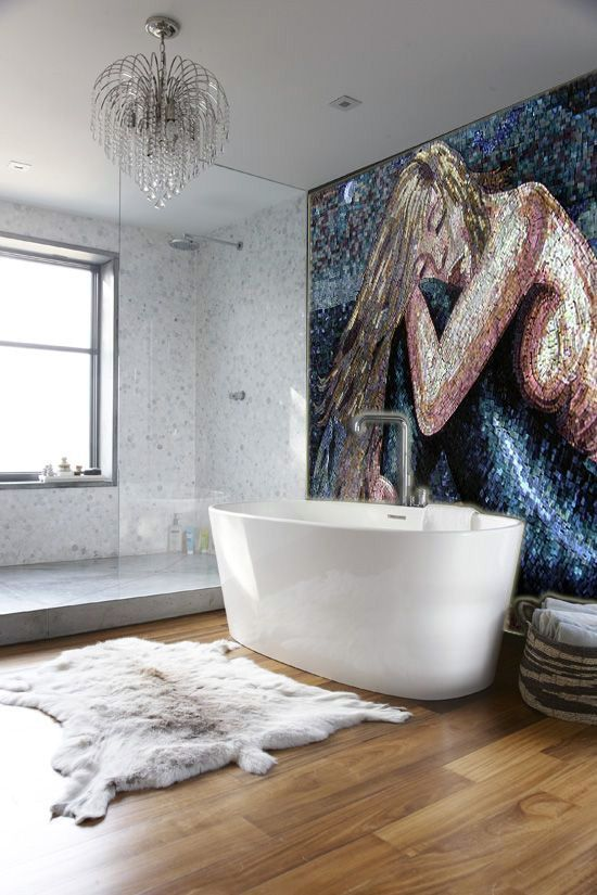 How To Hang Your Mosaic Art Like A Pro Mozaico Blog In 2020 Bathroom Wall Mural Mosaic Backsplash Bathroom Mosaic Decor