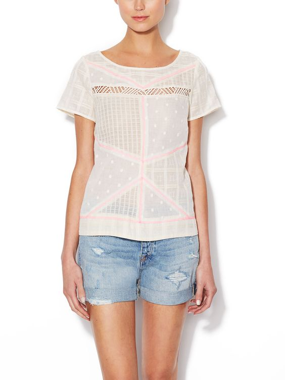 Love everything about this top, especially the COOL BACK!!!