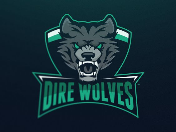 Dire wolves mascot logo by travis howell for creative for Logo creation wizard