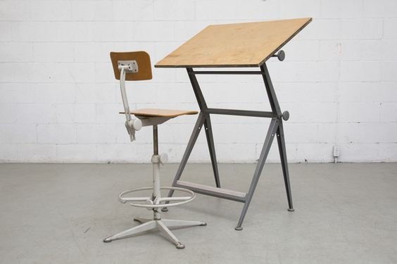 "WIM+RIETVELD+++FRISO+KRAMER+""REPLY""+DRAFTING+TABLE"