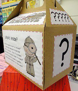 Teacher's Pet – Ideas & Inspiration for Early Years (EYFS), Key Stage 1 (KS1) and Key Stage 2 (KS2) | The Mystery Box  Put a number or letter or object in their and have the children ask specific questions in order to guess what's in the box