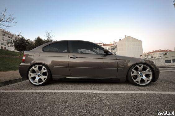 BMW E46 Compact on BMW X5 wheels, 19x9 &19x10.