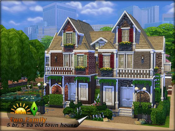 TSR : Two family old twon house by Solny.
