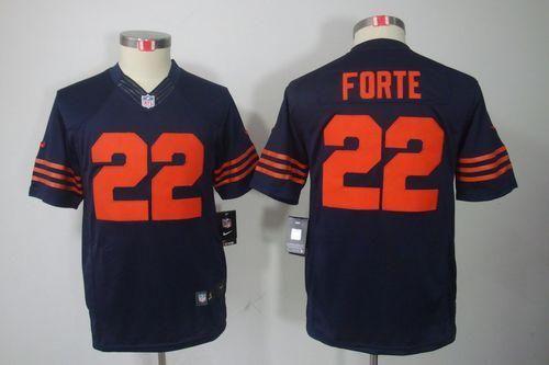 22 matt forte black mens stitched nfl impact limited jersey nike bears 33 charles tillman navy blue