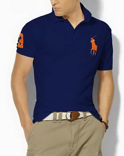 cheap ralph lauren outlet Ralph Lauren Custom Fit Big Red Pony Polo Shirt Blue http: