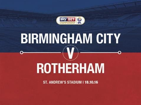 Blues v Rotherham United ticket details