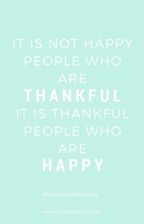 Kickstart Monday: Be Thankful